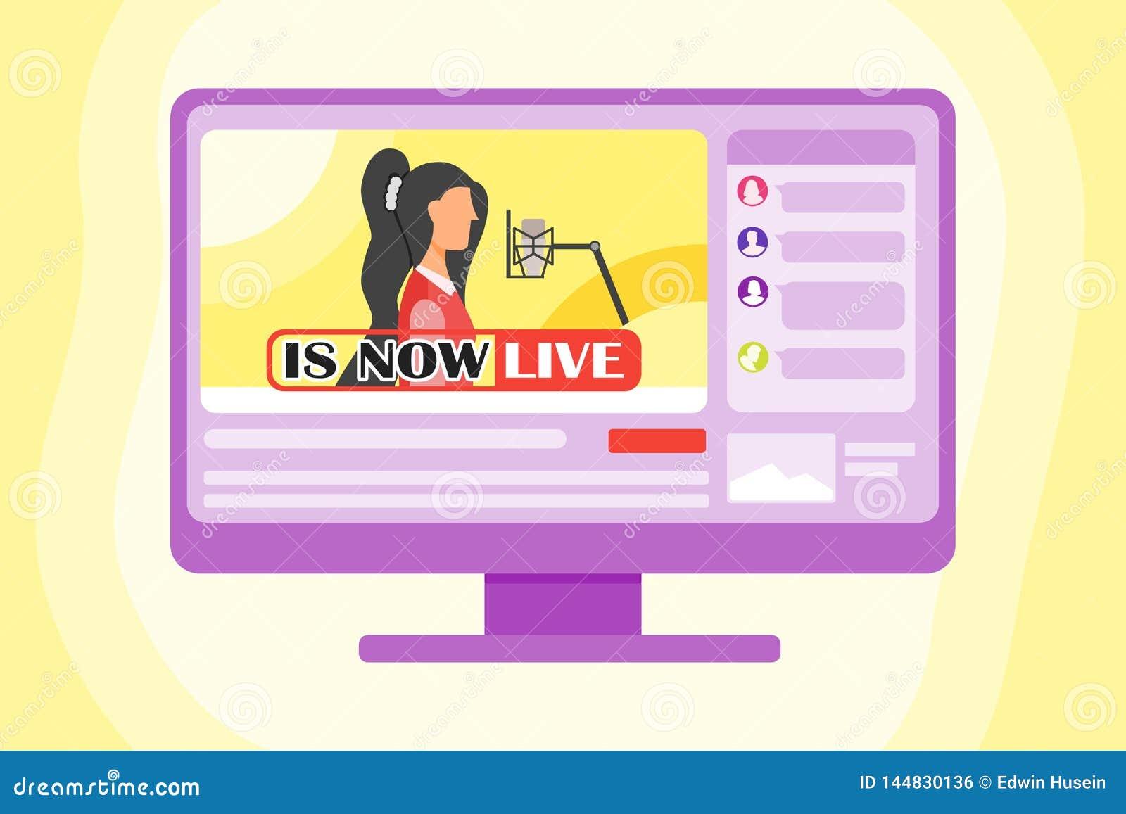 Sjunga Live On The Internet