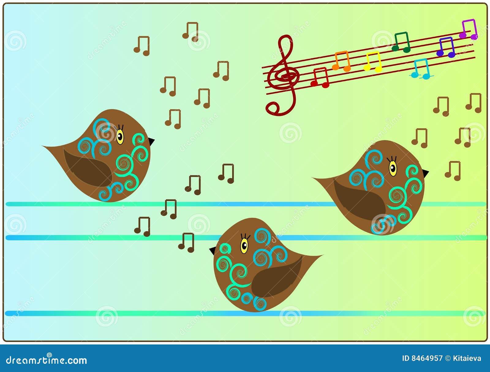 Sjungande song för fågelmusik