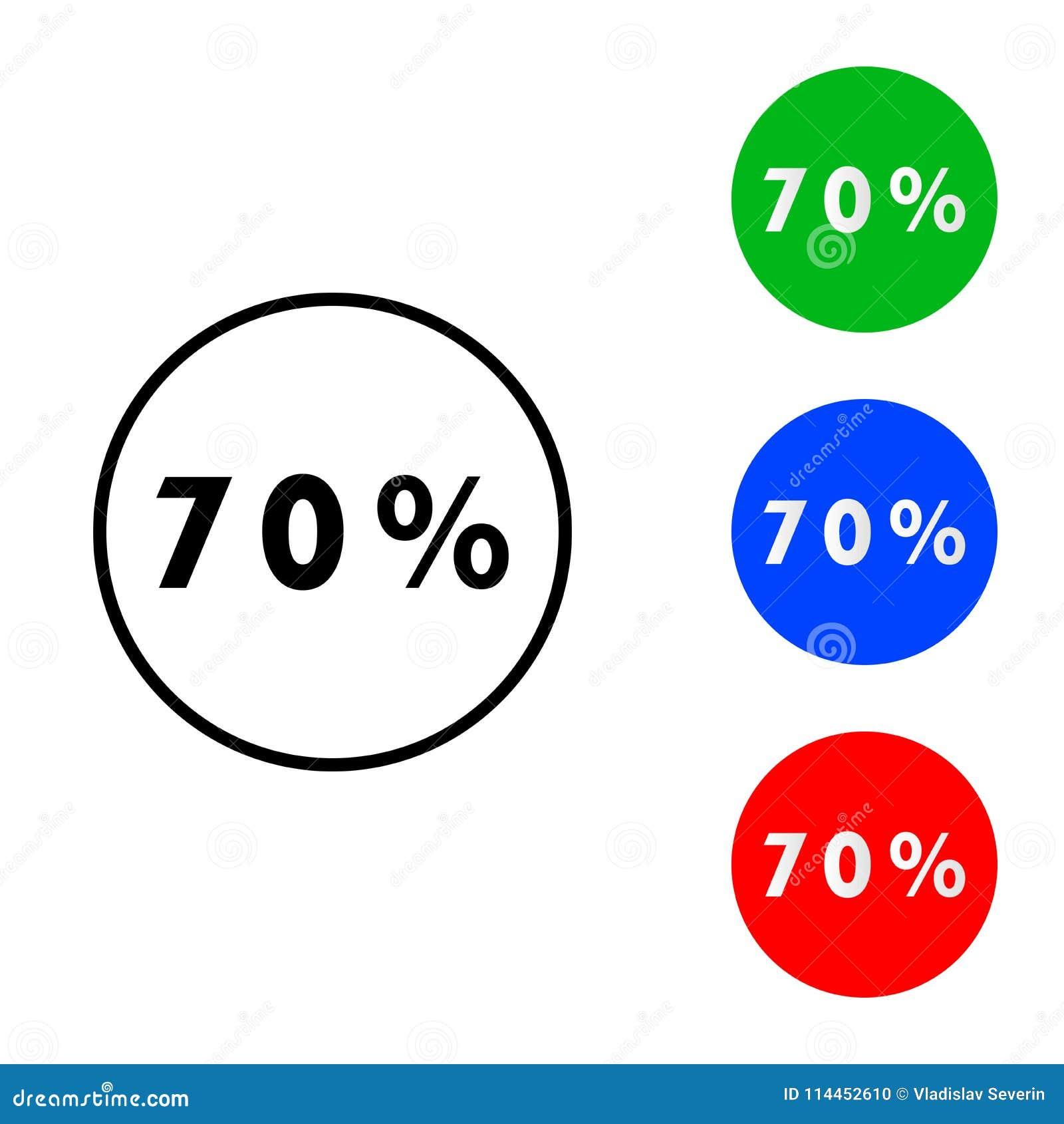 Sjuttio procent symbol