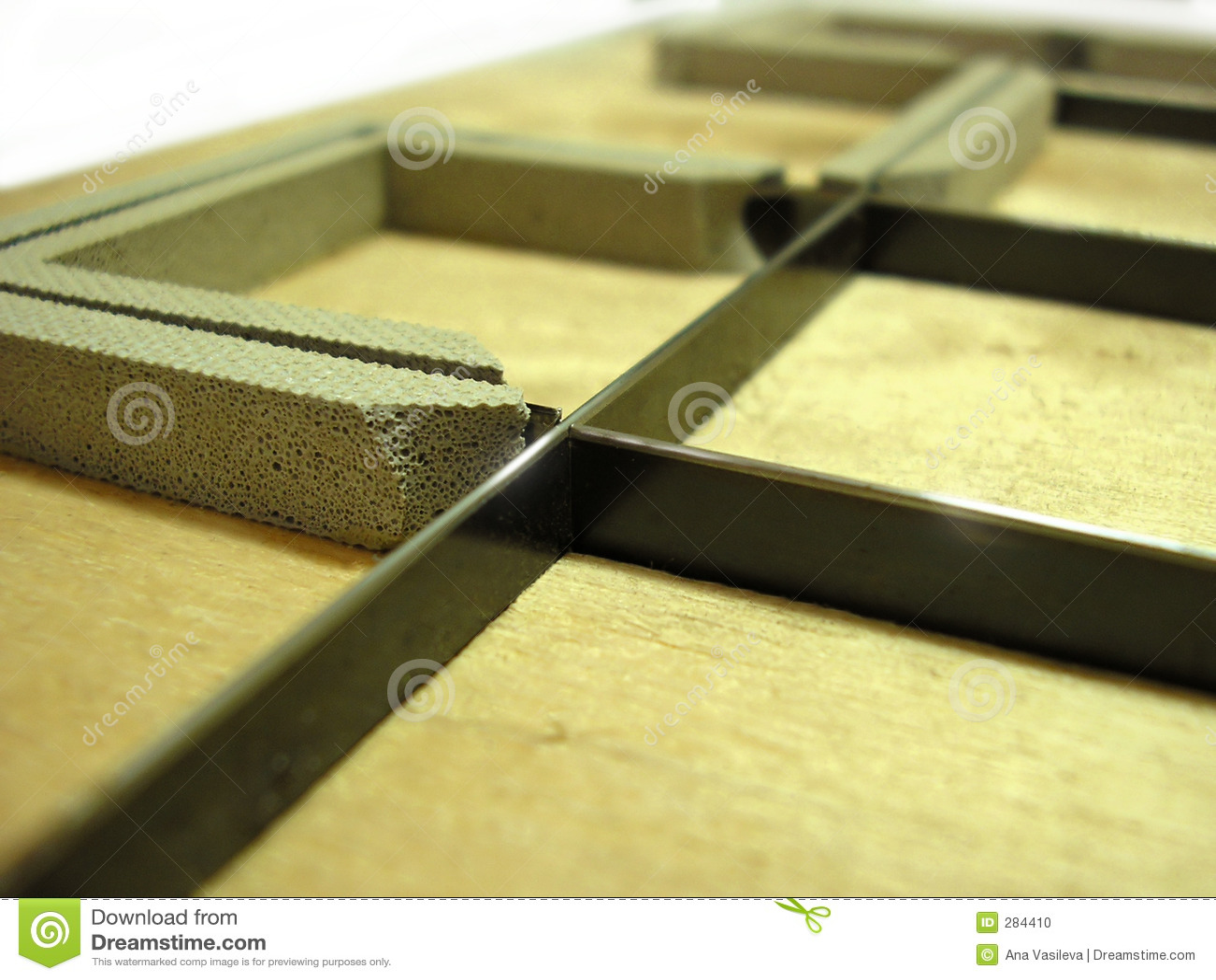 Skäraren matris industripolygraphyen