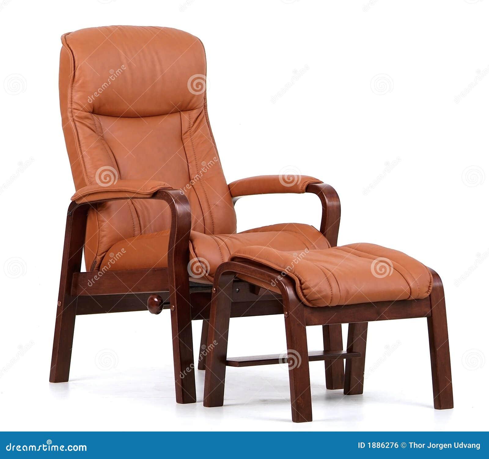 Skórzany recliner brown