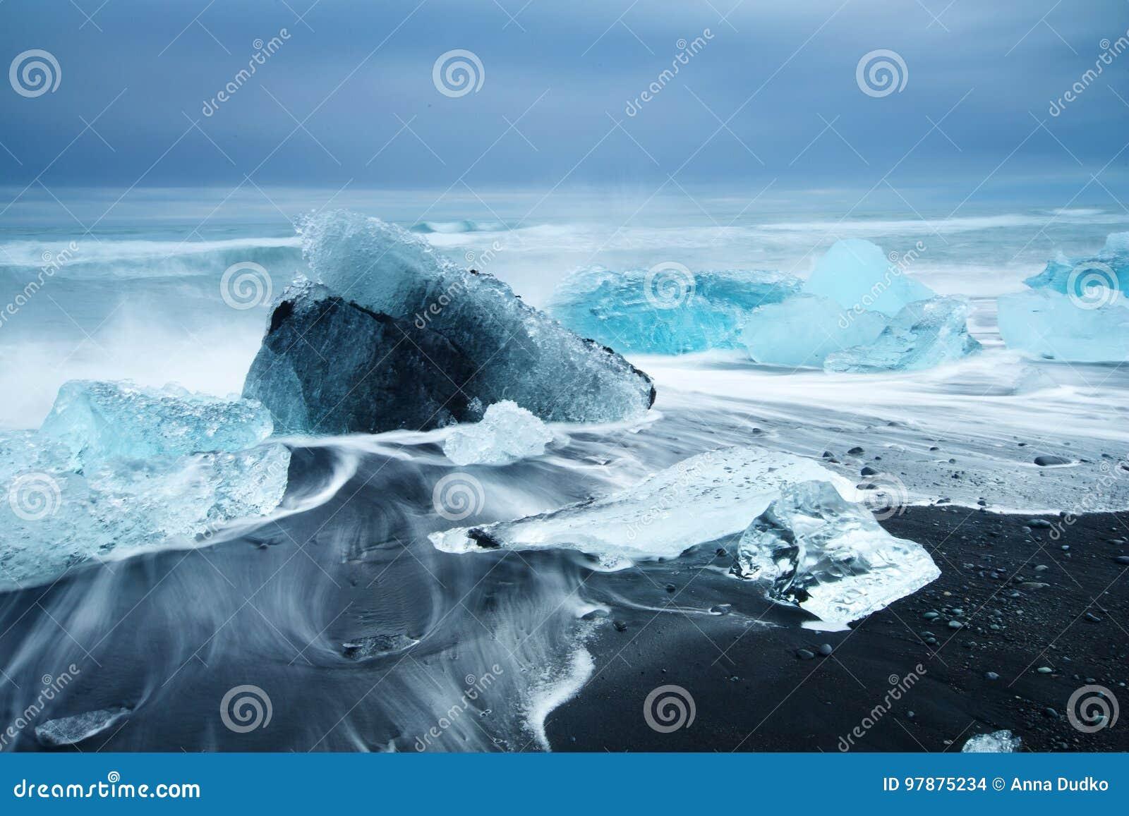 Skönhet av den Island ön, dramatiskt landskap