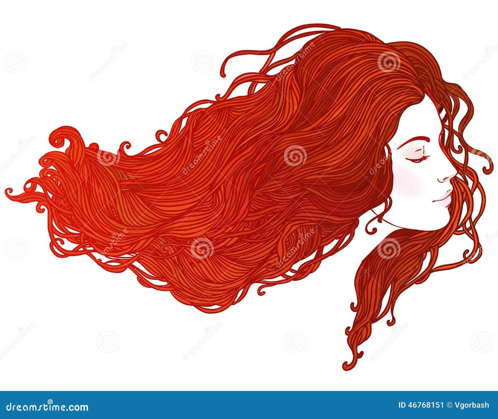 Skönhetsalong: Stående av den nätta unga kvinnan i profilsiktsintelligens
