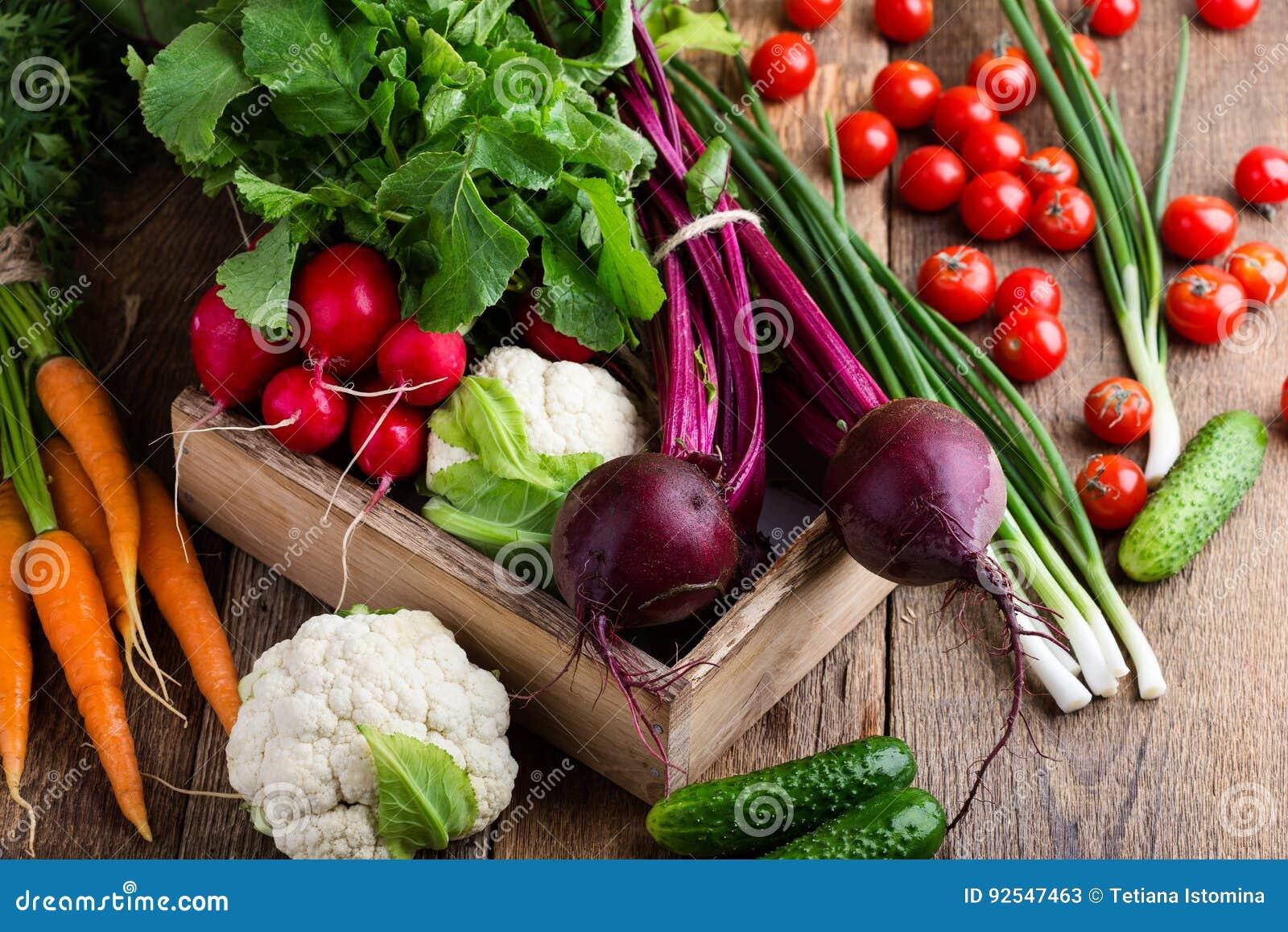 Skörda livstid fortfarande Matsammansättning av nya organiska grönsaker