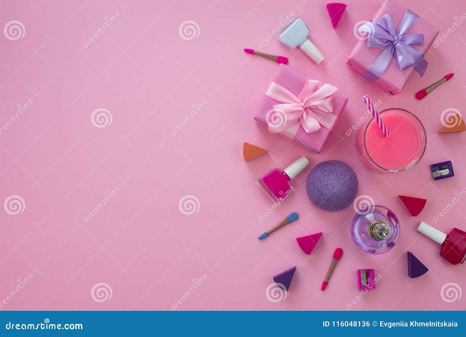 Skład set kobiety ` s akcesoria, kosmetyczny rzecz prezenta koktajl