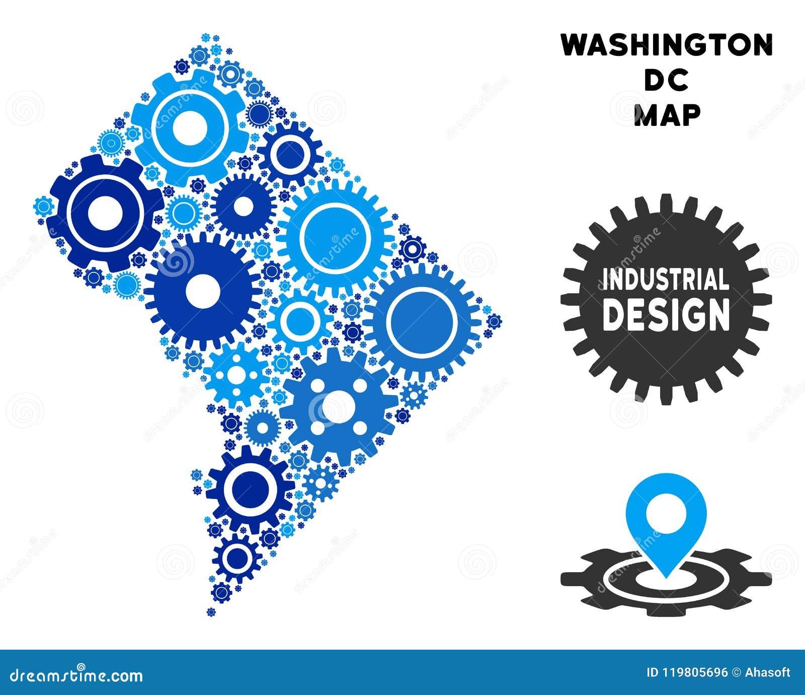 Składu washington dc mapa przekładnie