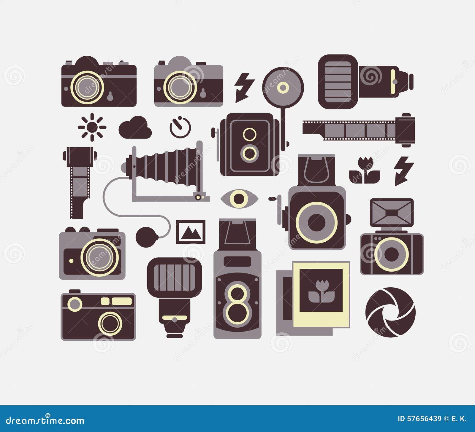 Skład z fotografia symbolami