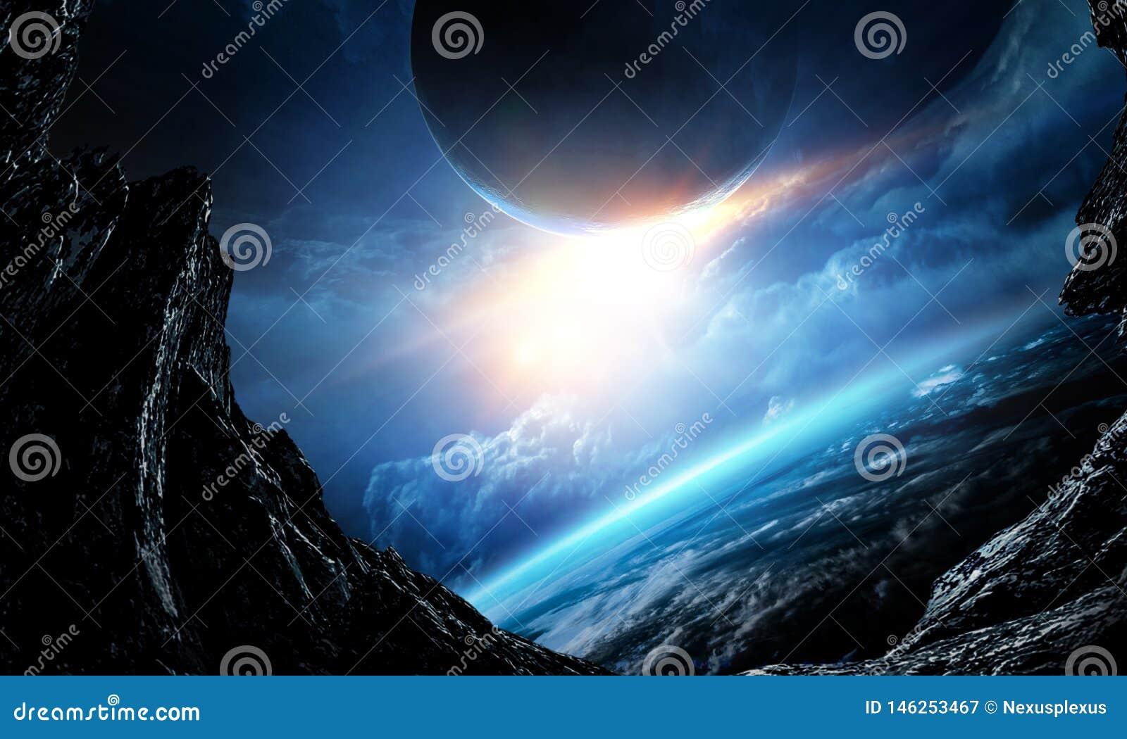 Sk?nhet f?r djupt utrymme Planetomlopp