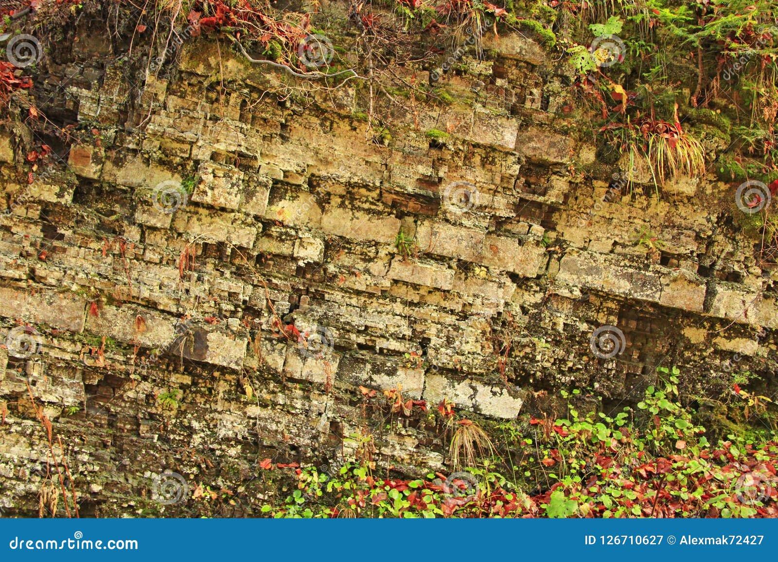 Skał warstwy w górach Warstwy kamieniste skały geom