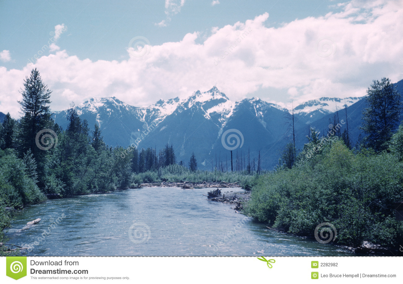 skagit river valley british columbia canada stock