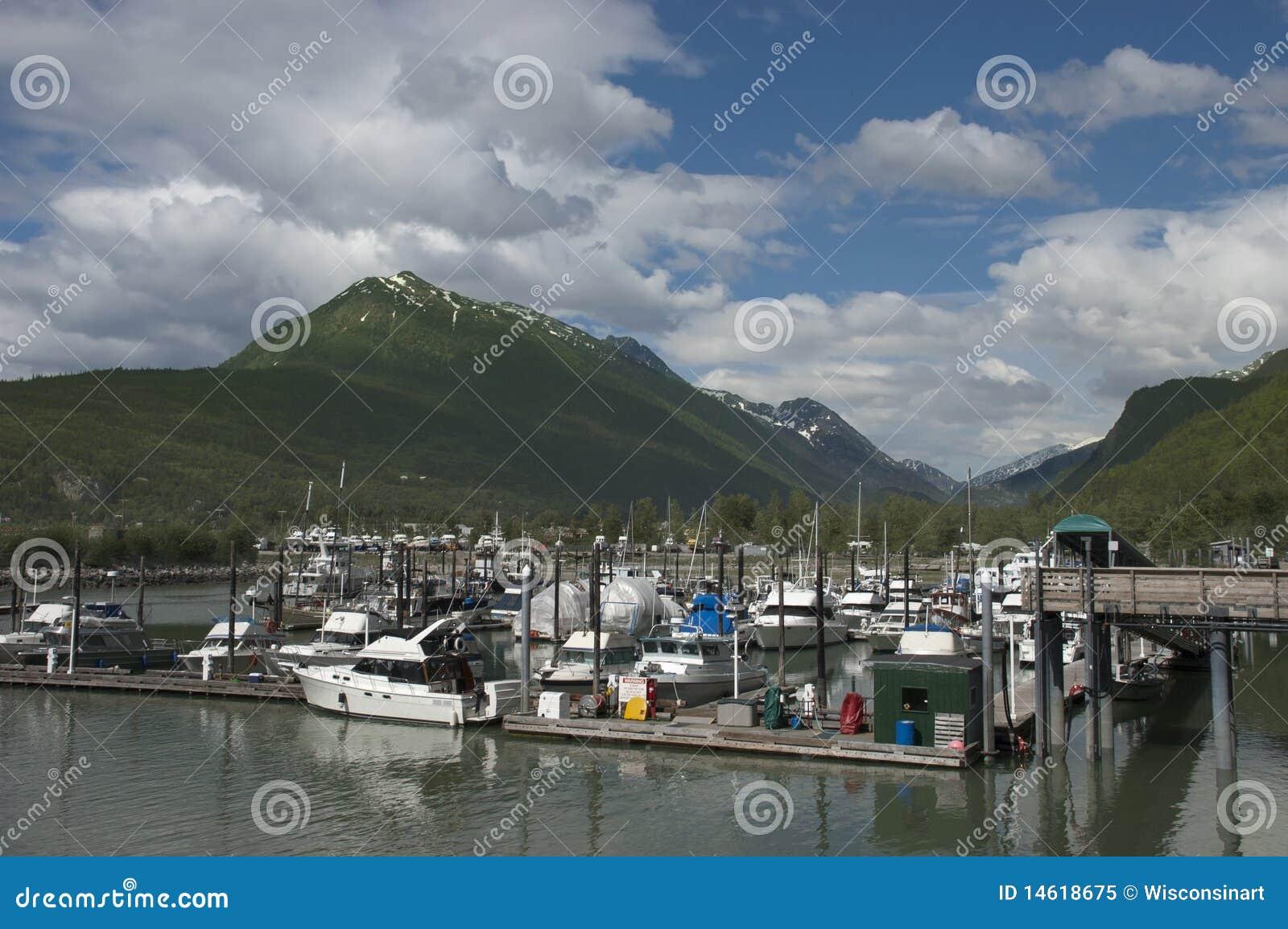 Skagway, Alaska, all interno del passaggio, nord-ovest pacifico
