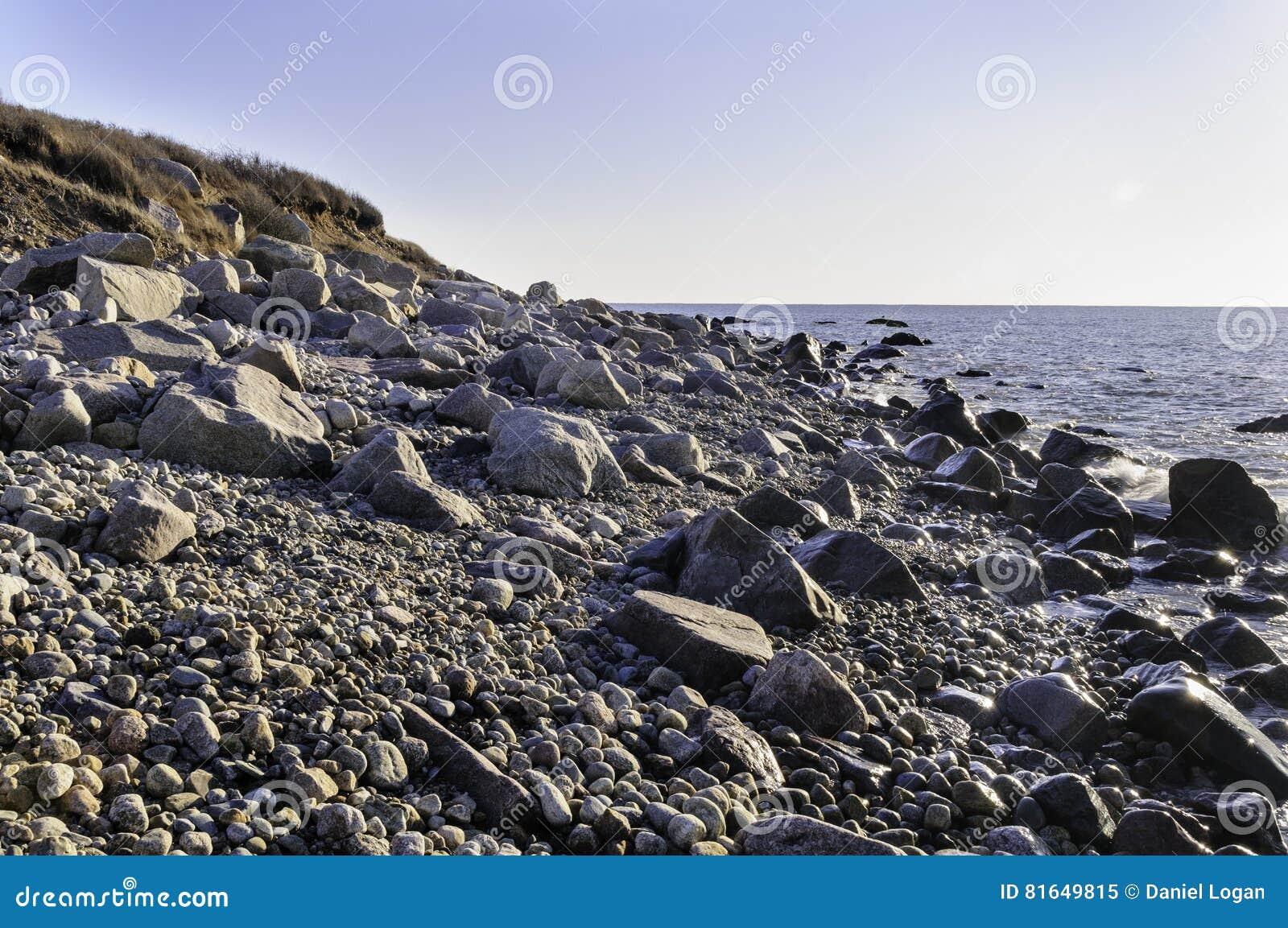Skalista Nowa Anglia plaża