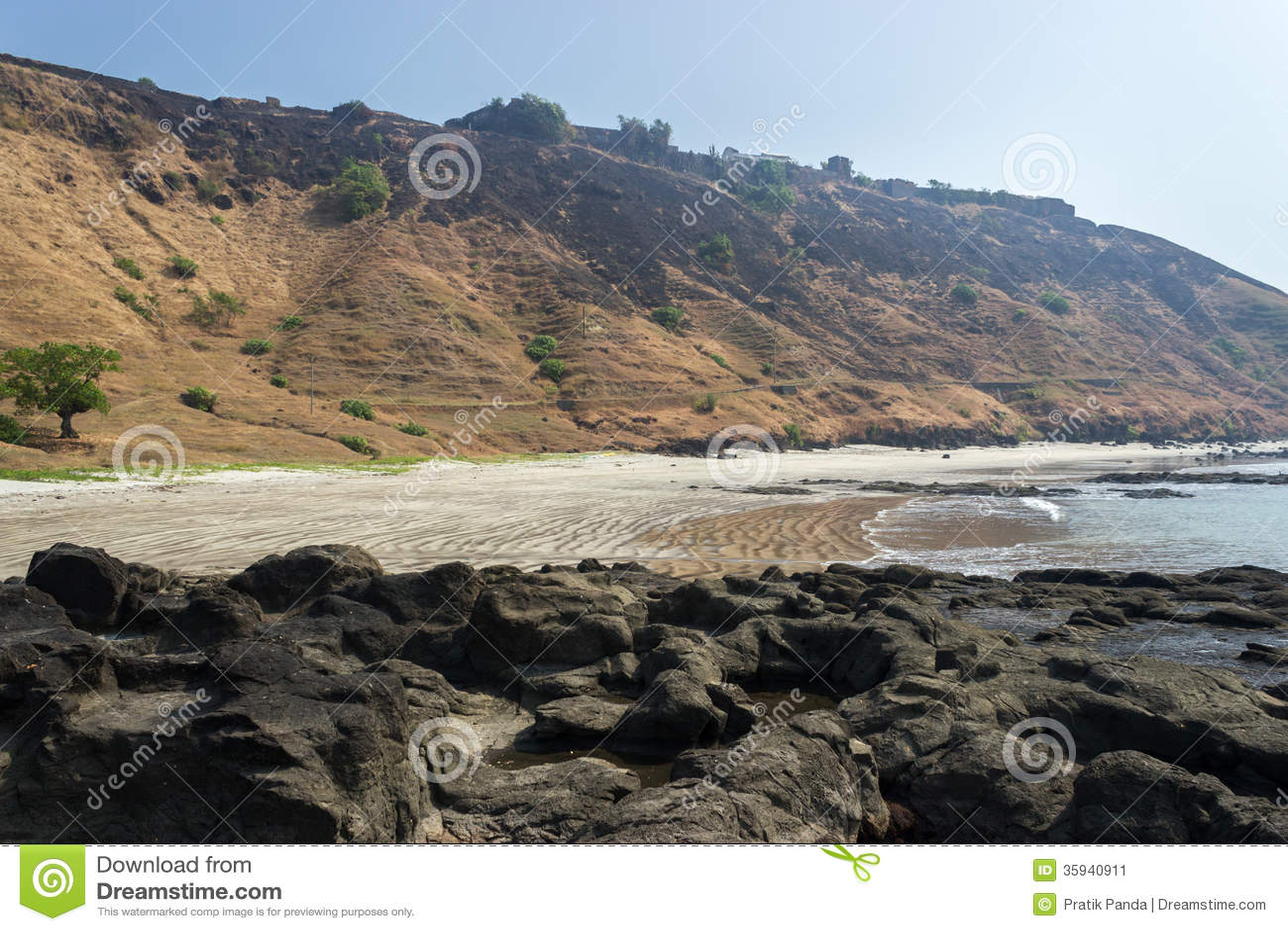 Skalisty wybrzeże w Azja