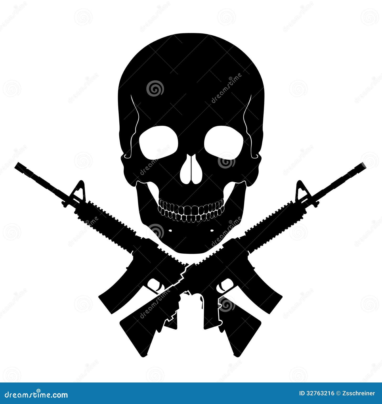 Skalle med korsade vapen