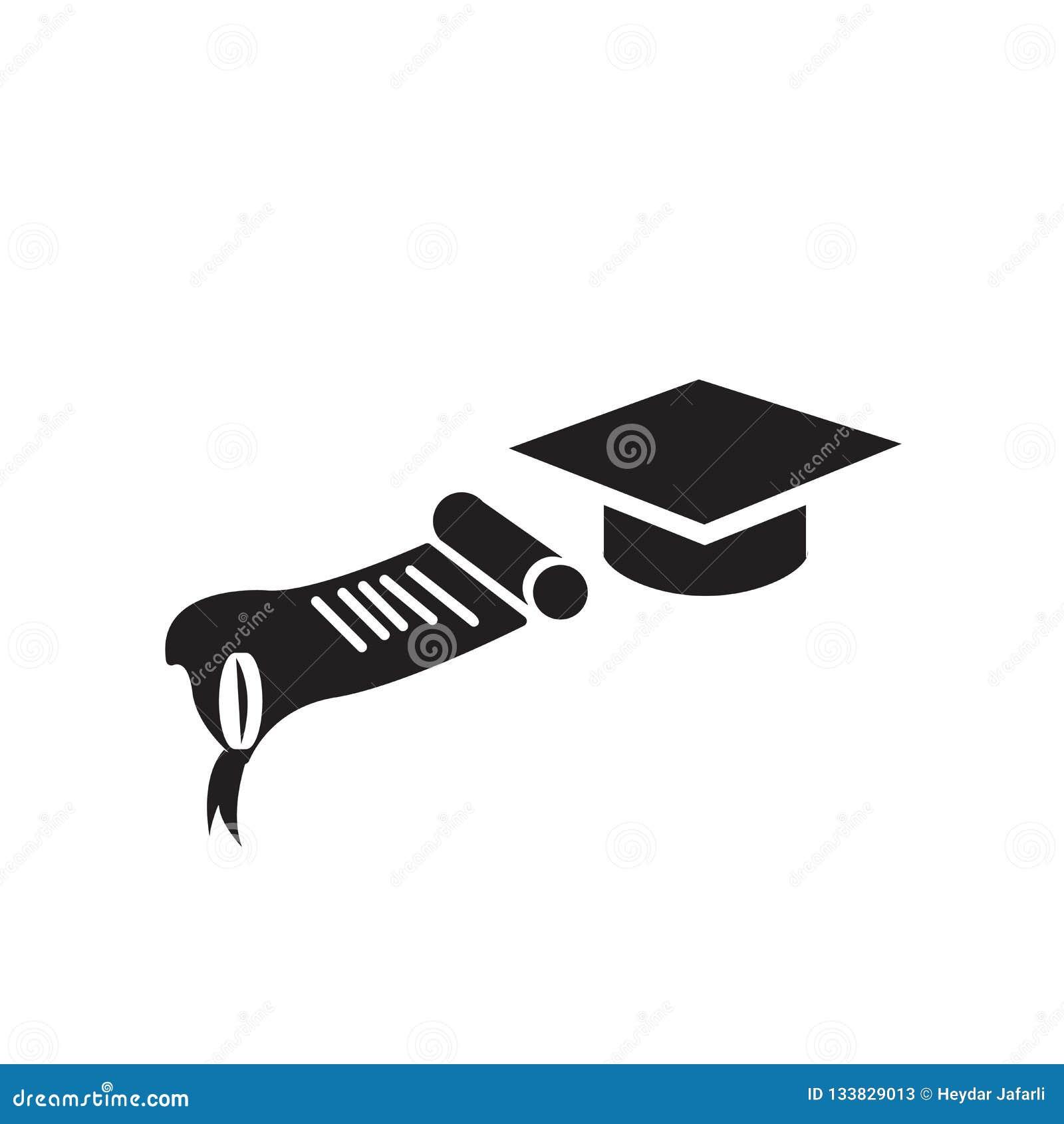 Skalowanie dyplomu ikony wektoru znak i symbol odizolowywający na bielu