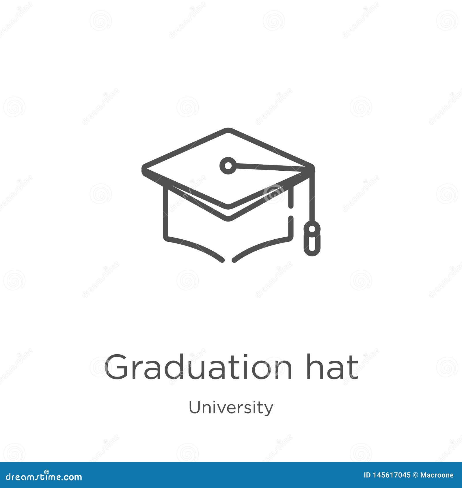 Skalowanie ikony kapeluszowy wektor od uniwersyteckiej kolekcji Cienkiego kreskowego skalowania konturu ikony wektoru kapeluszowa