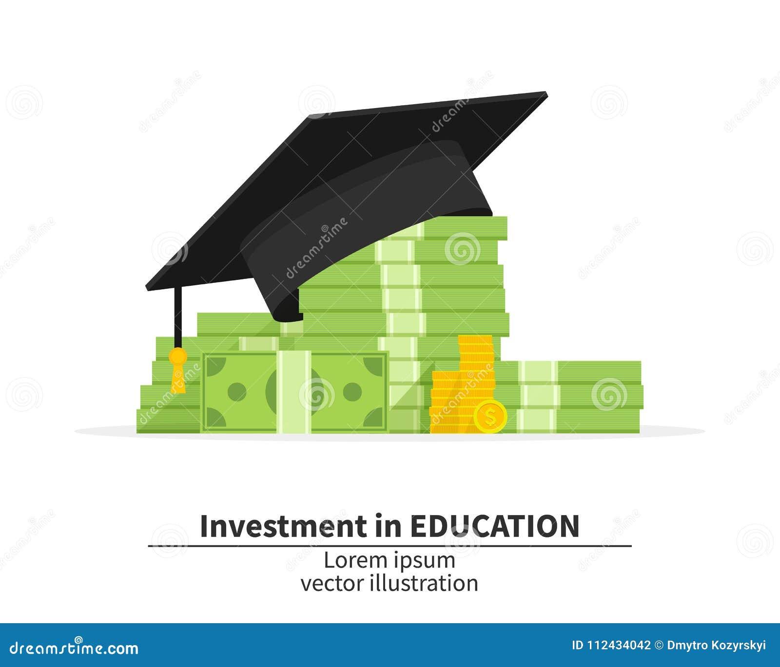Skalowanie nakrętka na stosie pieniądze i monety oncept edukacja koszty Wydatki edukaci pieniądze inwestyci mieszkanie nauka