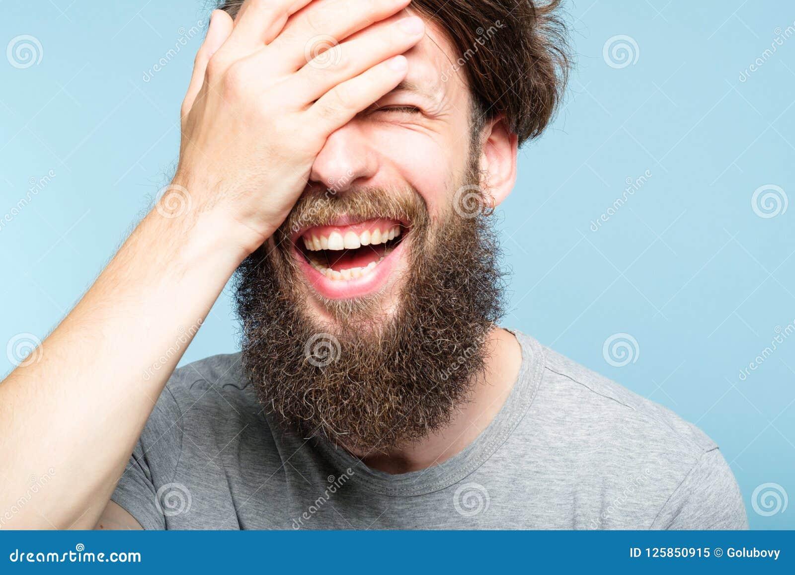 Skam för framsida för Facepalm lycklig le glad manräkning