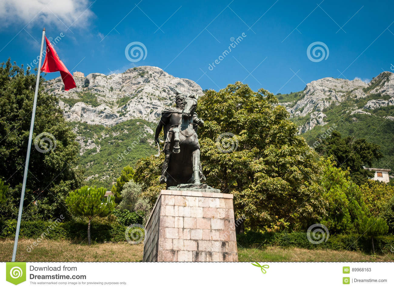 Skanderbeg-Monument in Kruje