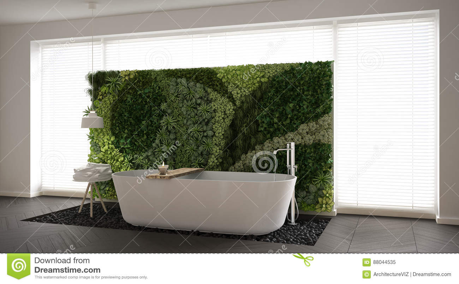 Verticale Tuin Woonkamer : Skandinavische badkamers met verticale tuin witte minimalistic i