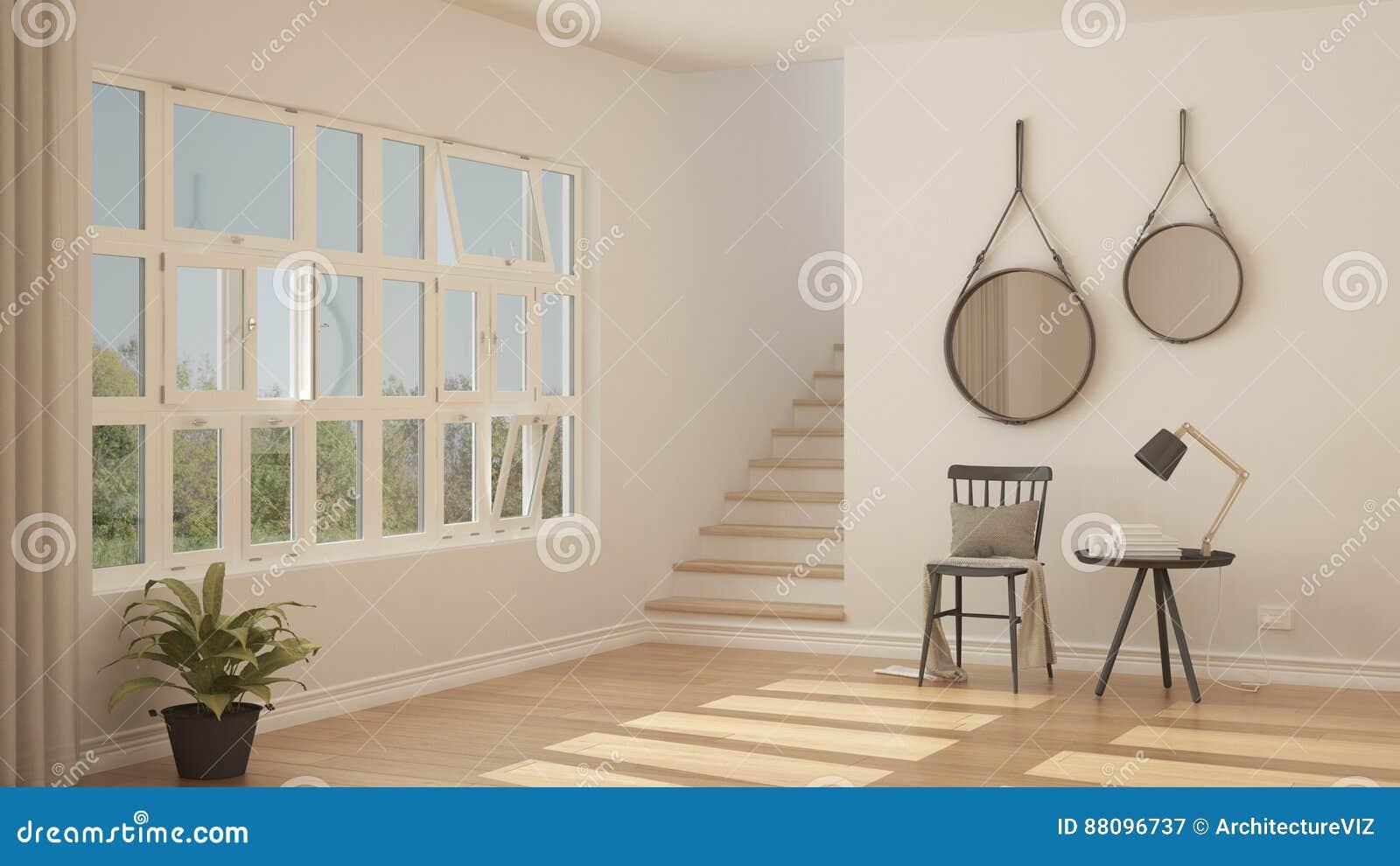 Skandinavische minimalistic hal ingang gang moderne inter stock