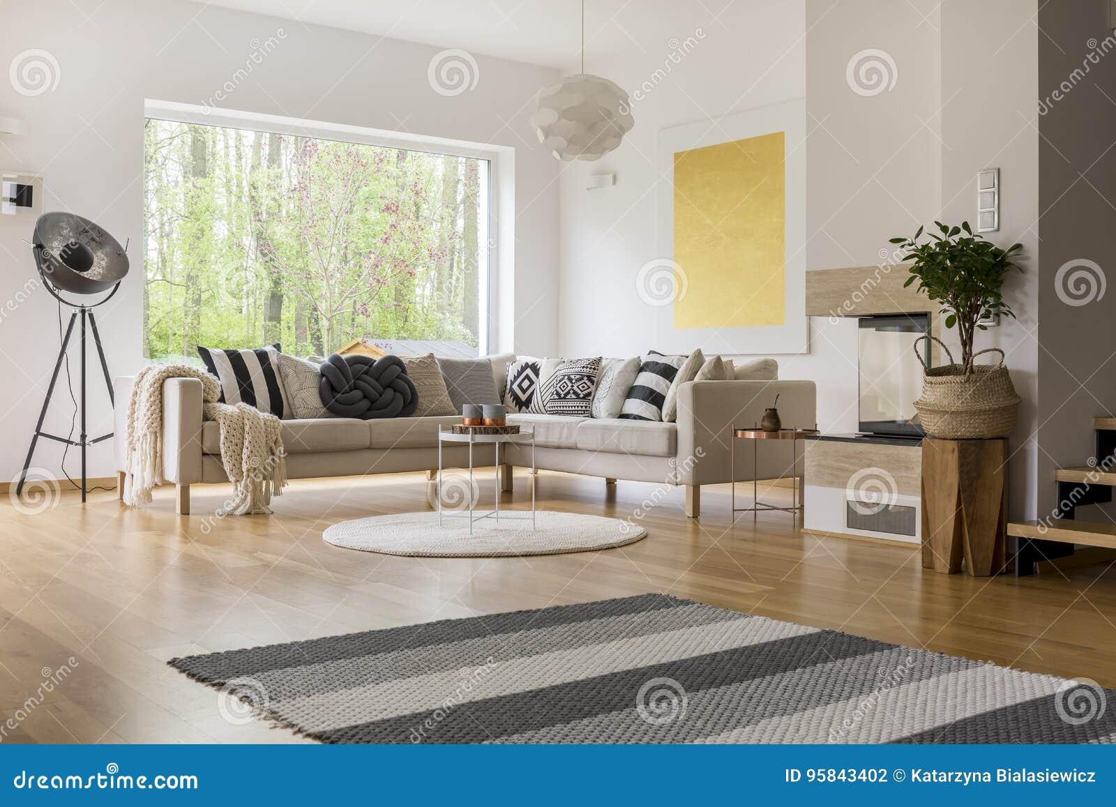 Skandinavische stijl van ruimte
