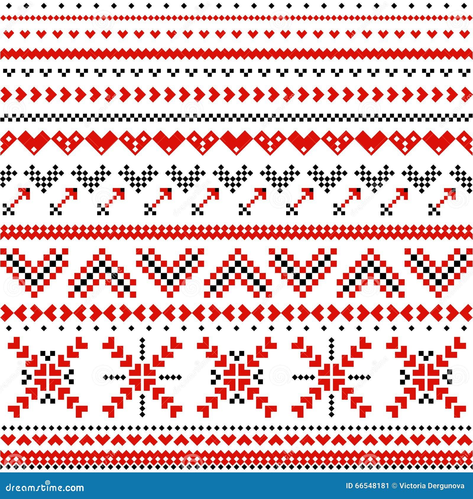 Skandinavisches design muster  Skandinavisches Muster Mit Herzen Vektor Abbildung - Illustration ...