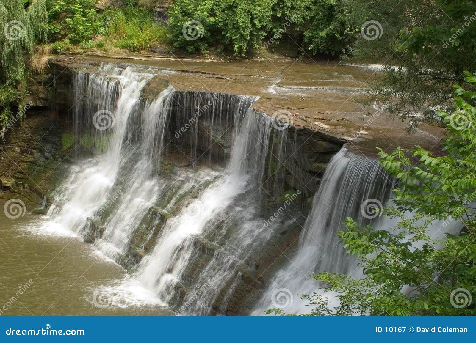 Skarp vattenvattenfall