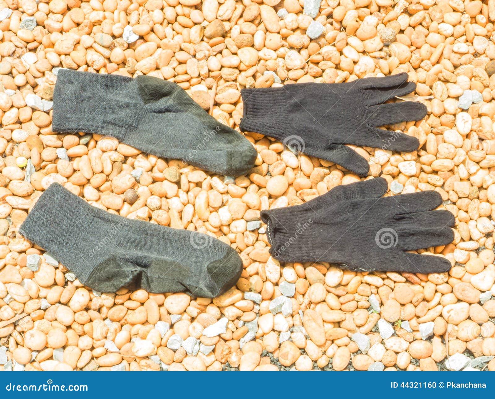 Skarpeta i rękawiczka