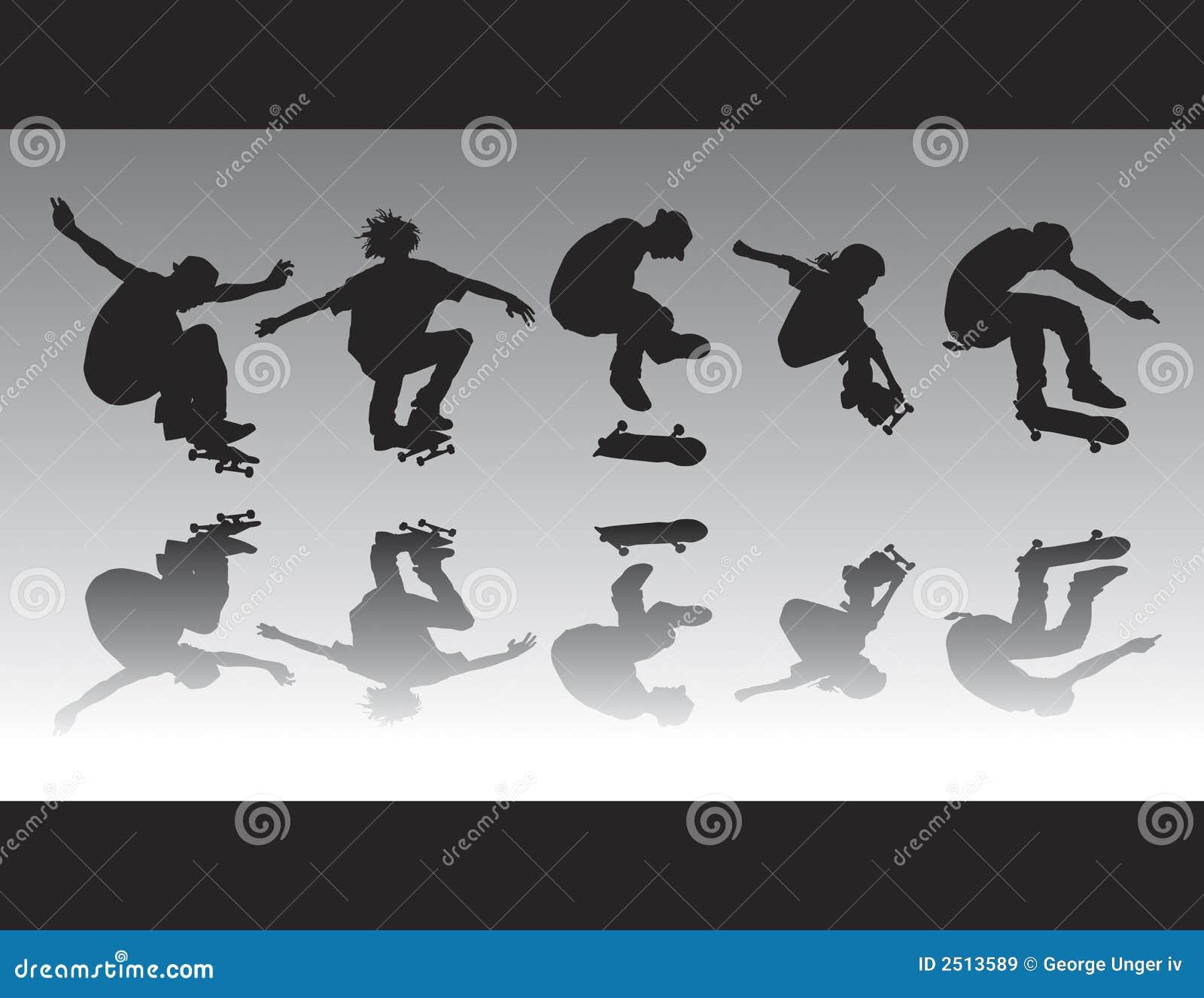 Skate Figure Silhouettes II