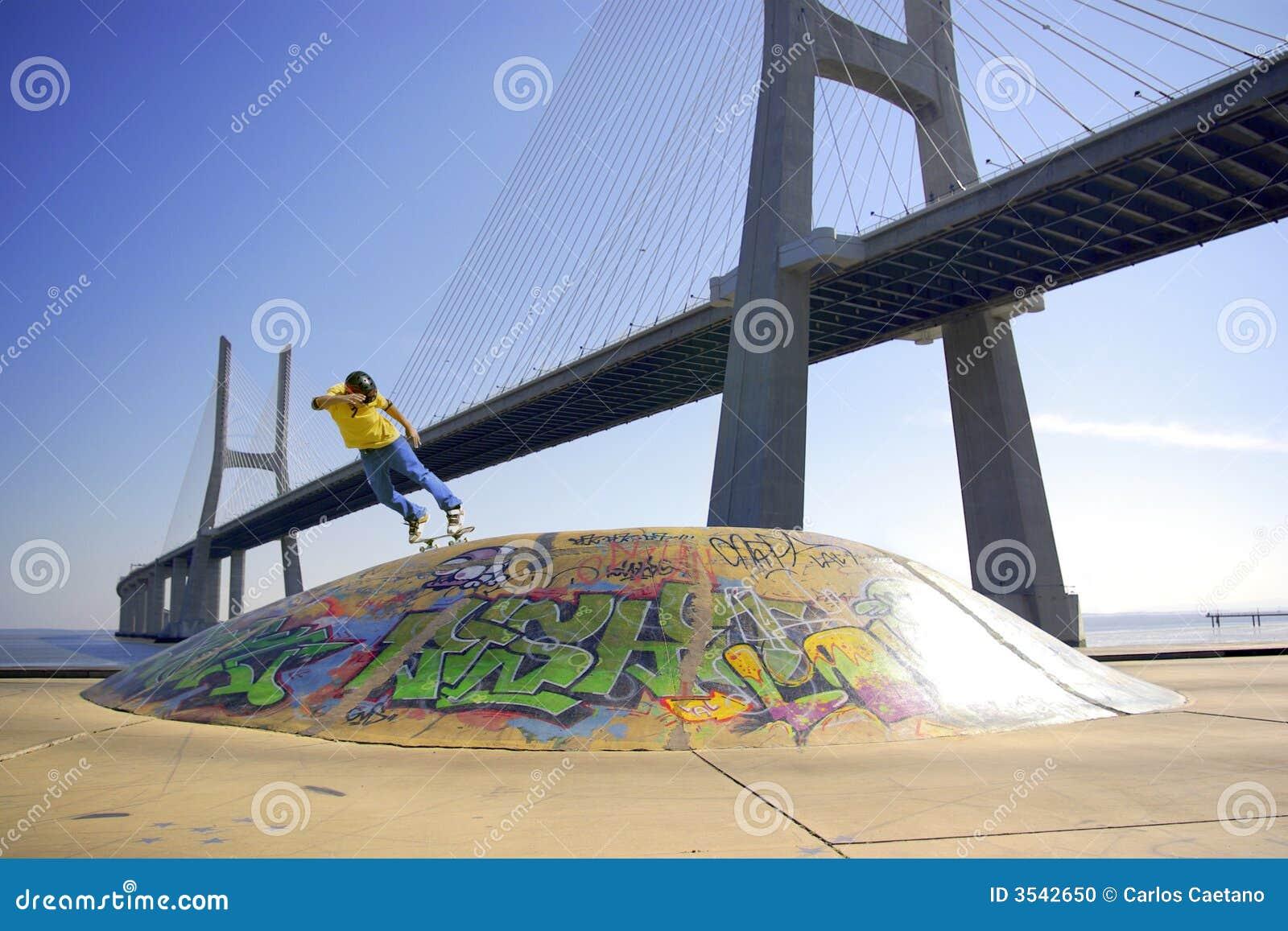 Skate Under Bridge