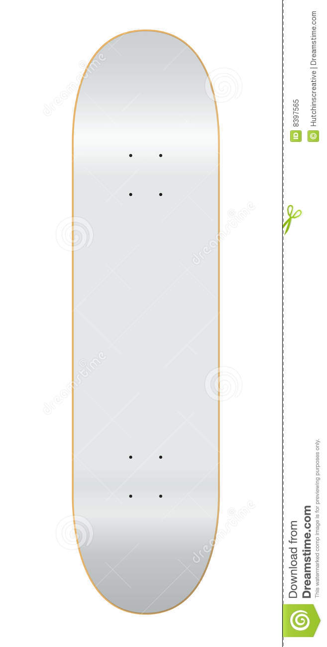 Skateboard Deck Template 7.75 Stock Vector - Illustration ...