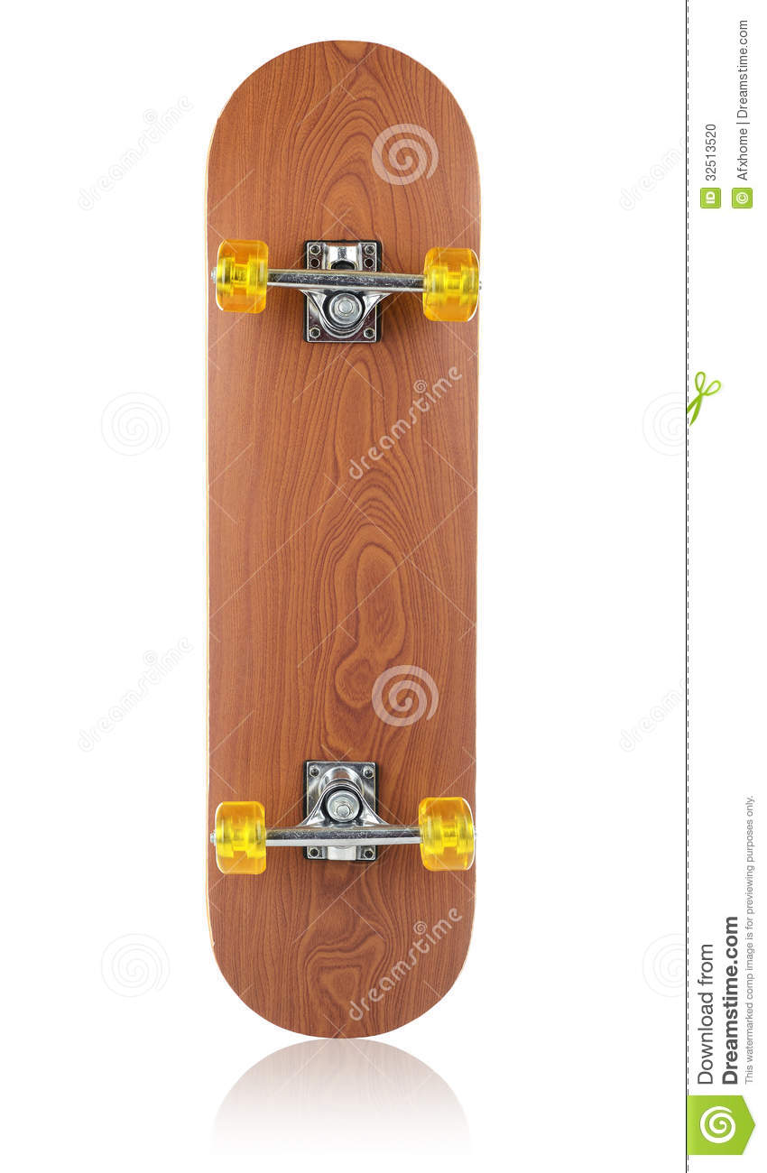 Skateboard deck on white background stock photo image