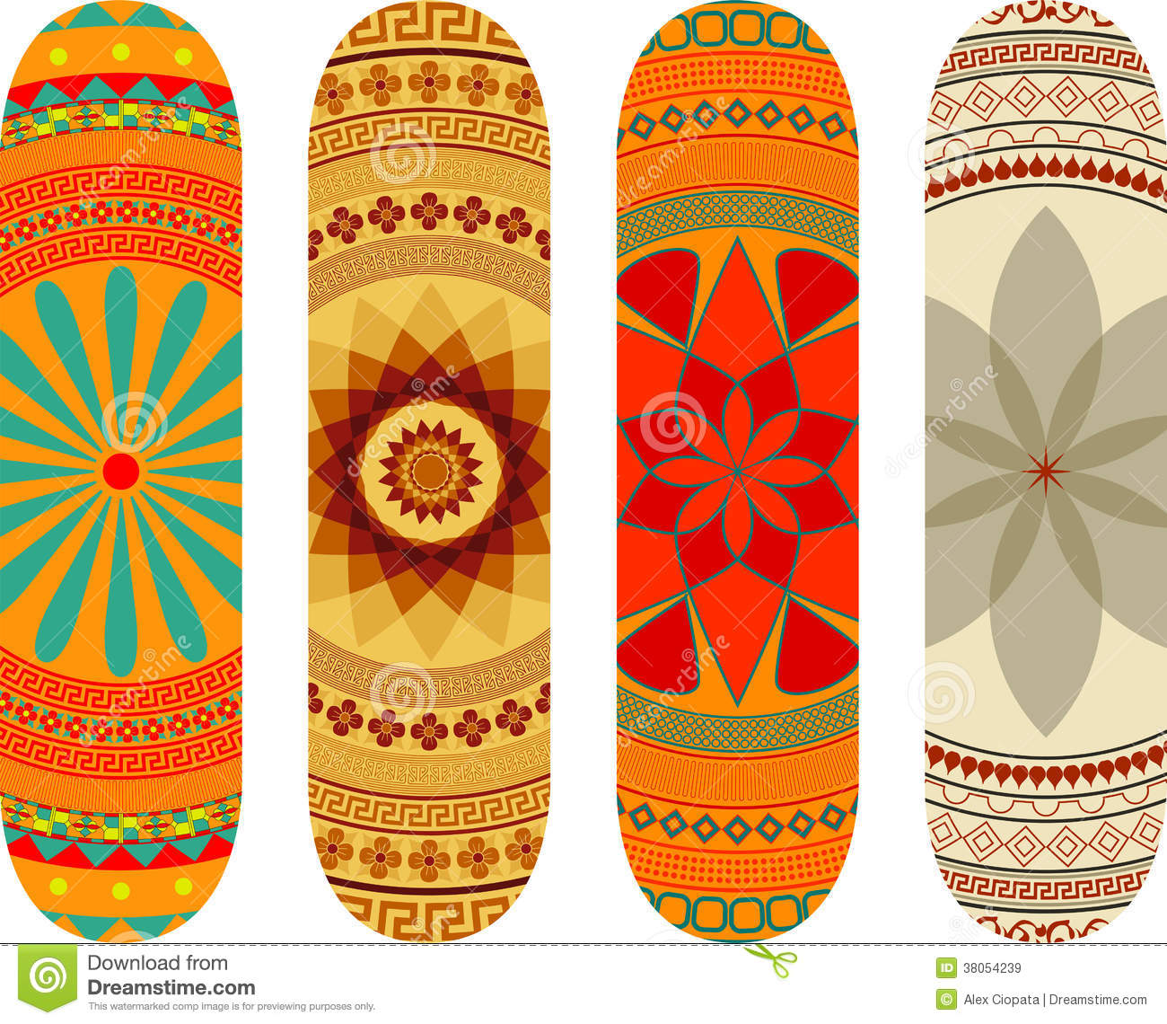 Skateboard Designs Royalty Free Stock Images - Image: 38054239