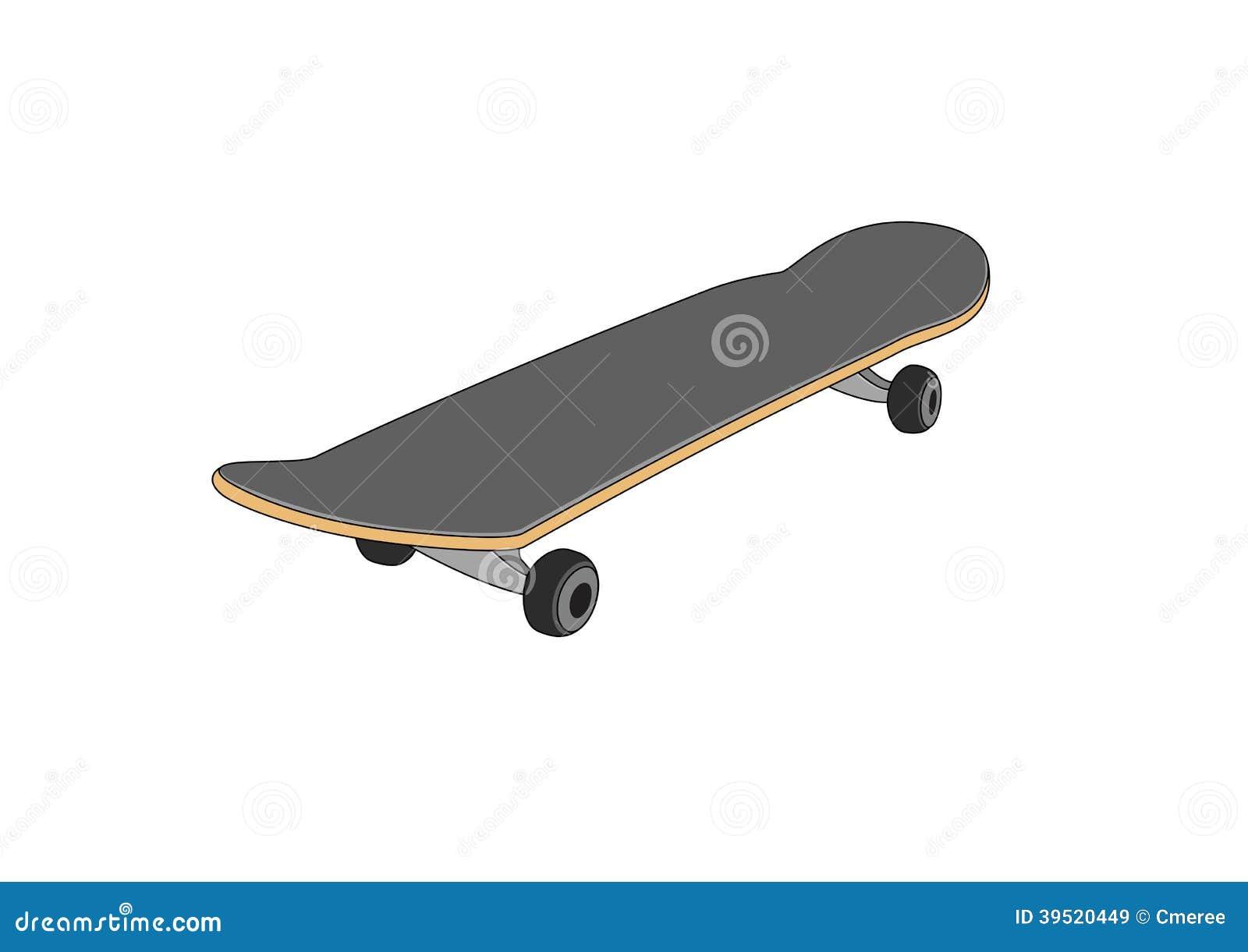 Skateboard Stock Vector Image 39520449