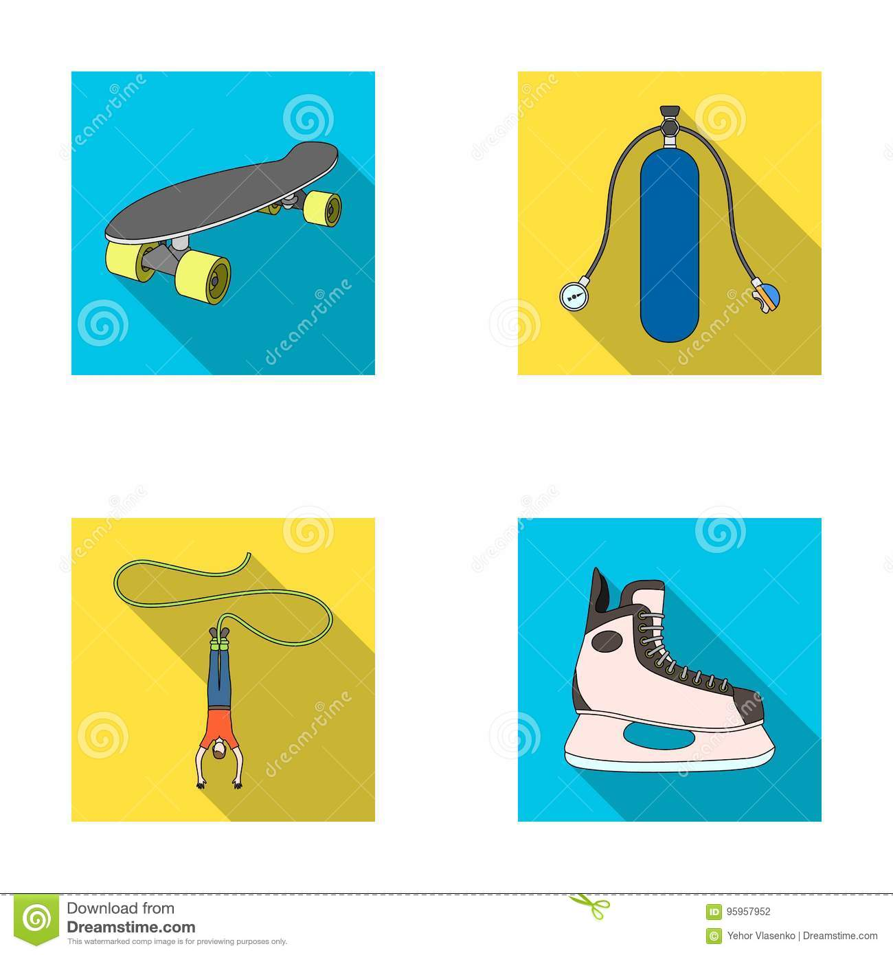 Diving Flat Icons Set Royalty-Free Stock Photography ...