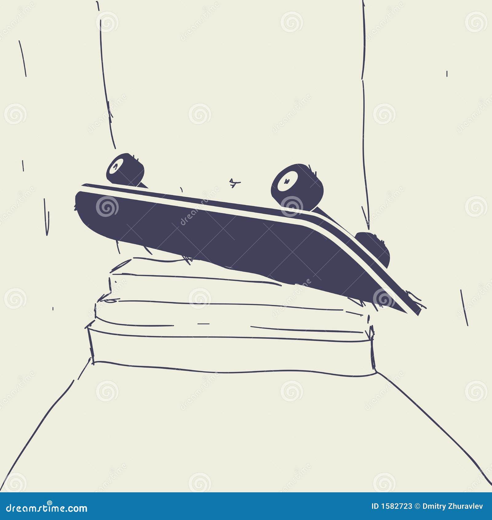 Skateboard Sketch Stock Photos - Image: 1582723