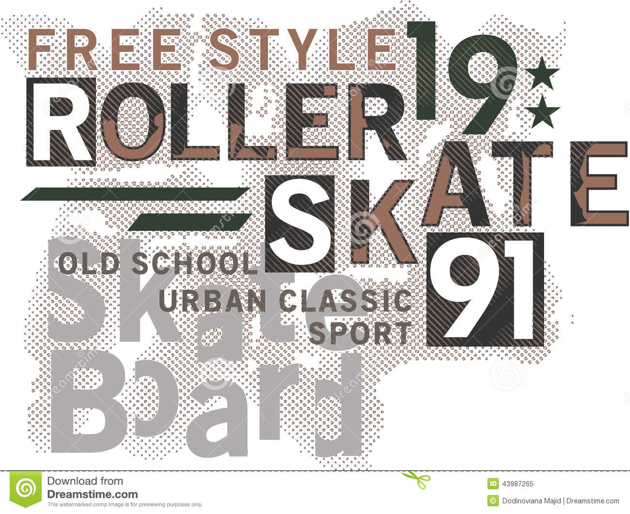 Skateboard Text Design Stock Illustration Illustration Of Shirt