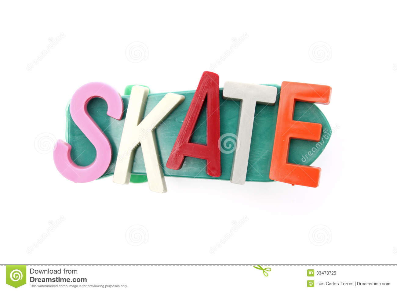 Skateboard And Text Top View Stock Image Image Of Background Text