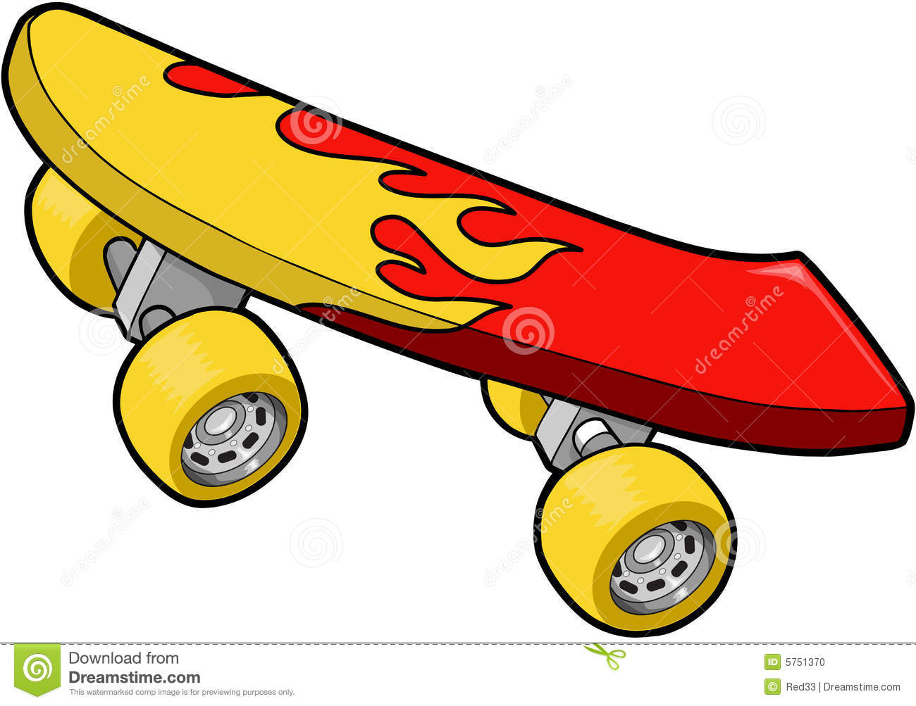 skateboard vector illustration stock photo image 5751370 flame clip art for churches flames clip art images