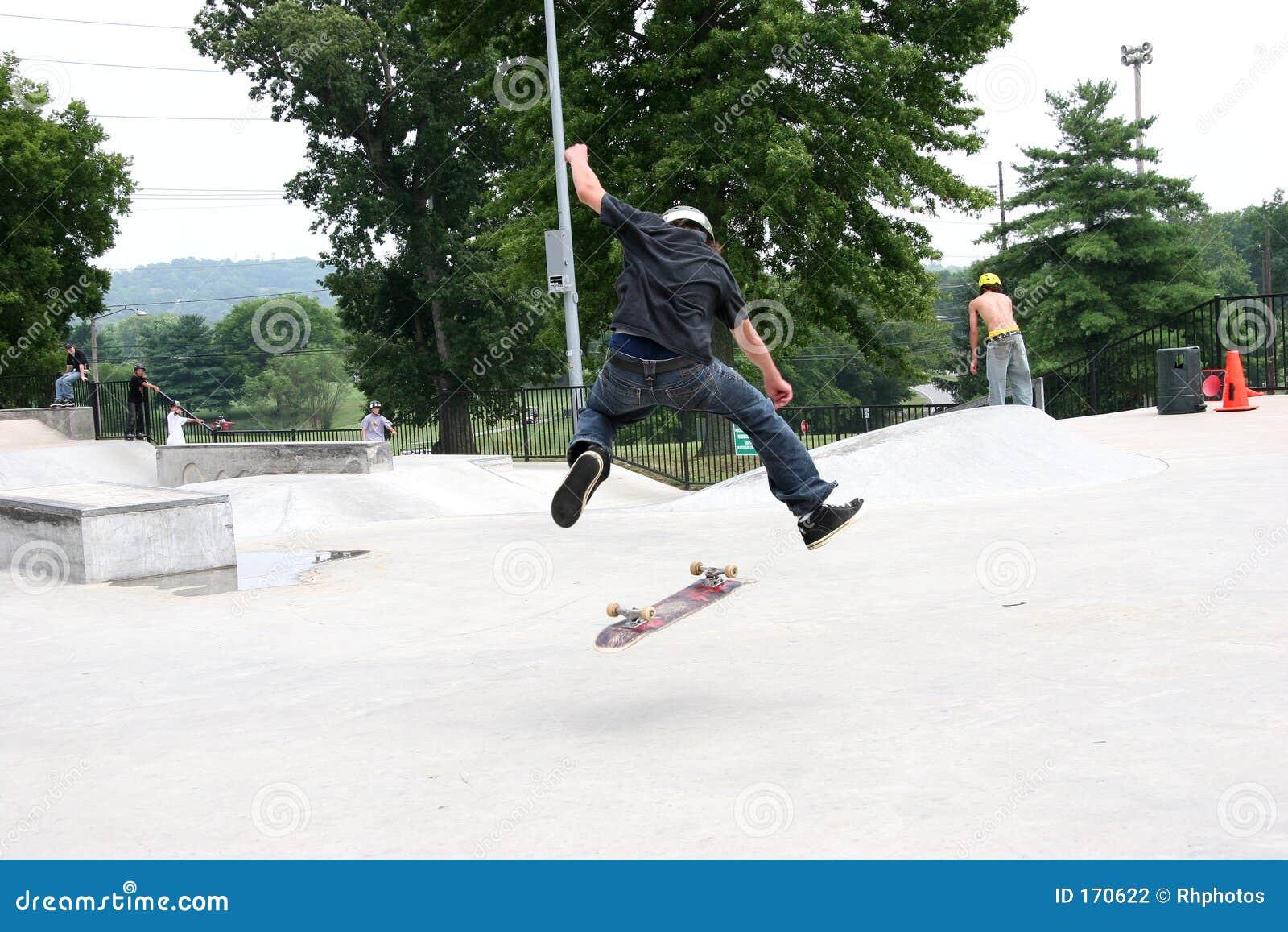 Skateboarder 360 Flip
