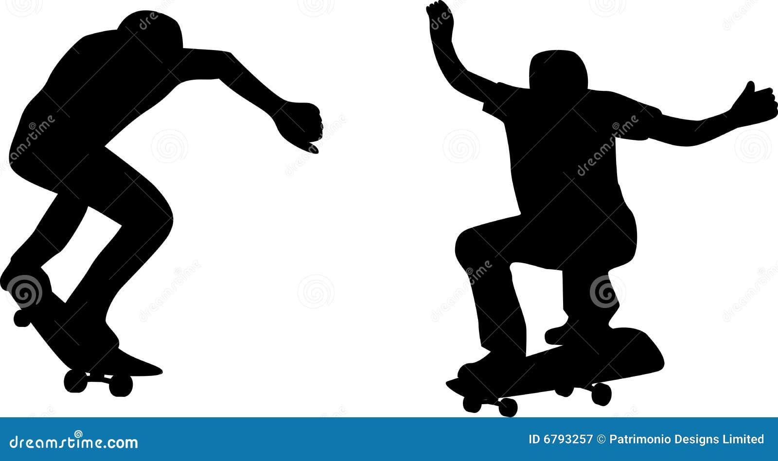 Skateboarder stock vector. Illustration of white, isolated ...