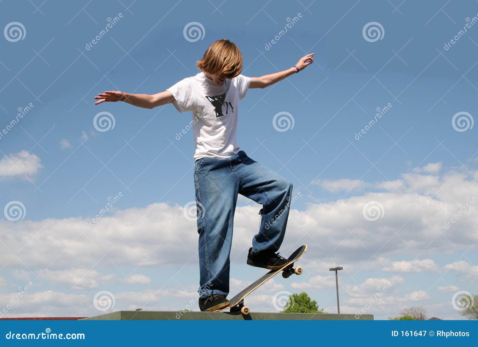 Skateboarder in Clouds