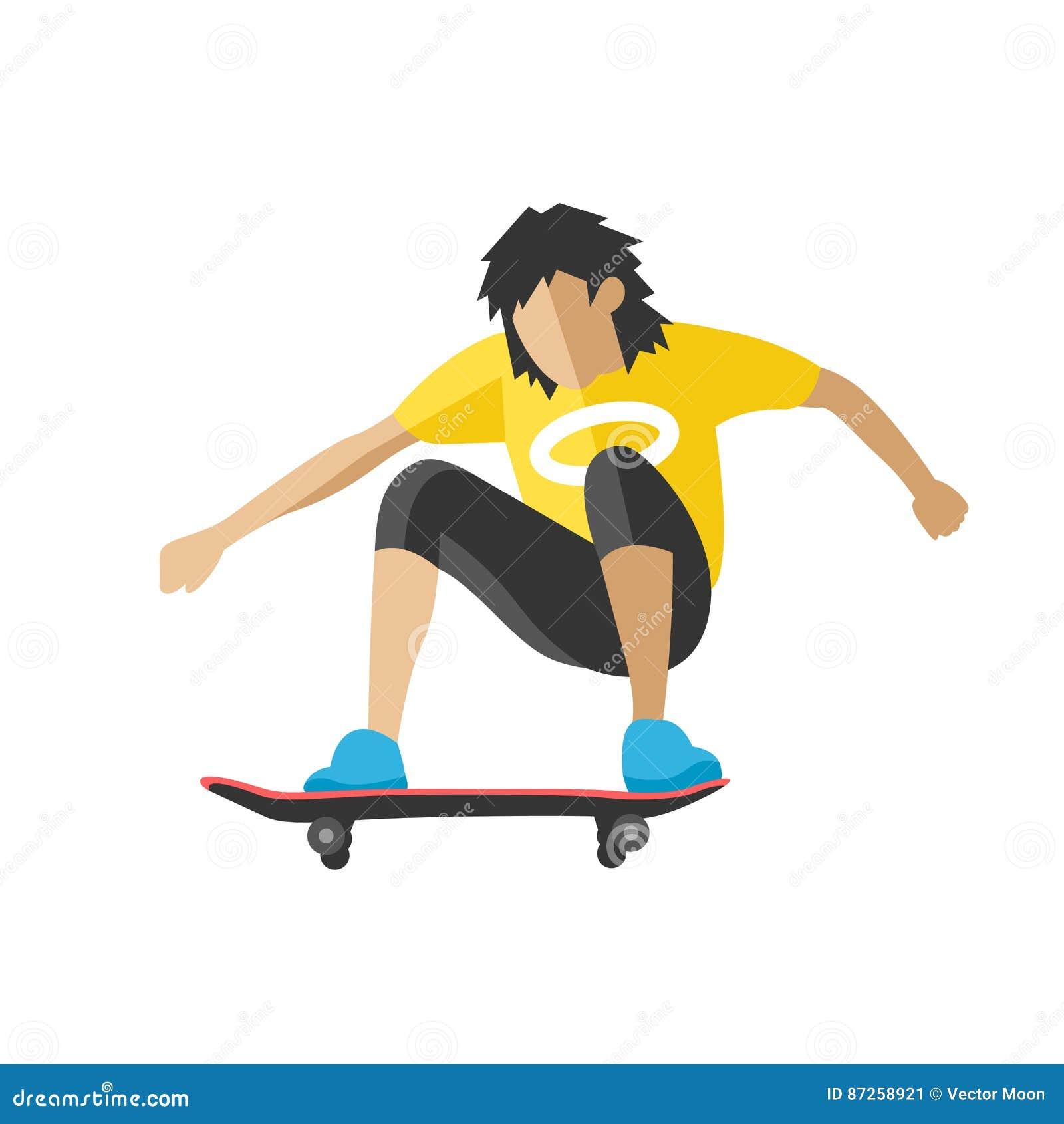 Sport Skateboarding Skateboard Skater SkateBoarder Moon Mens T-Shirt