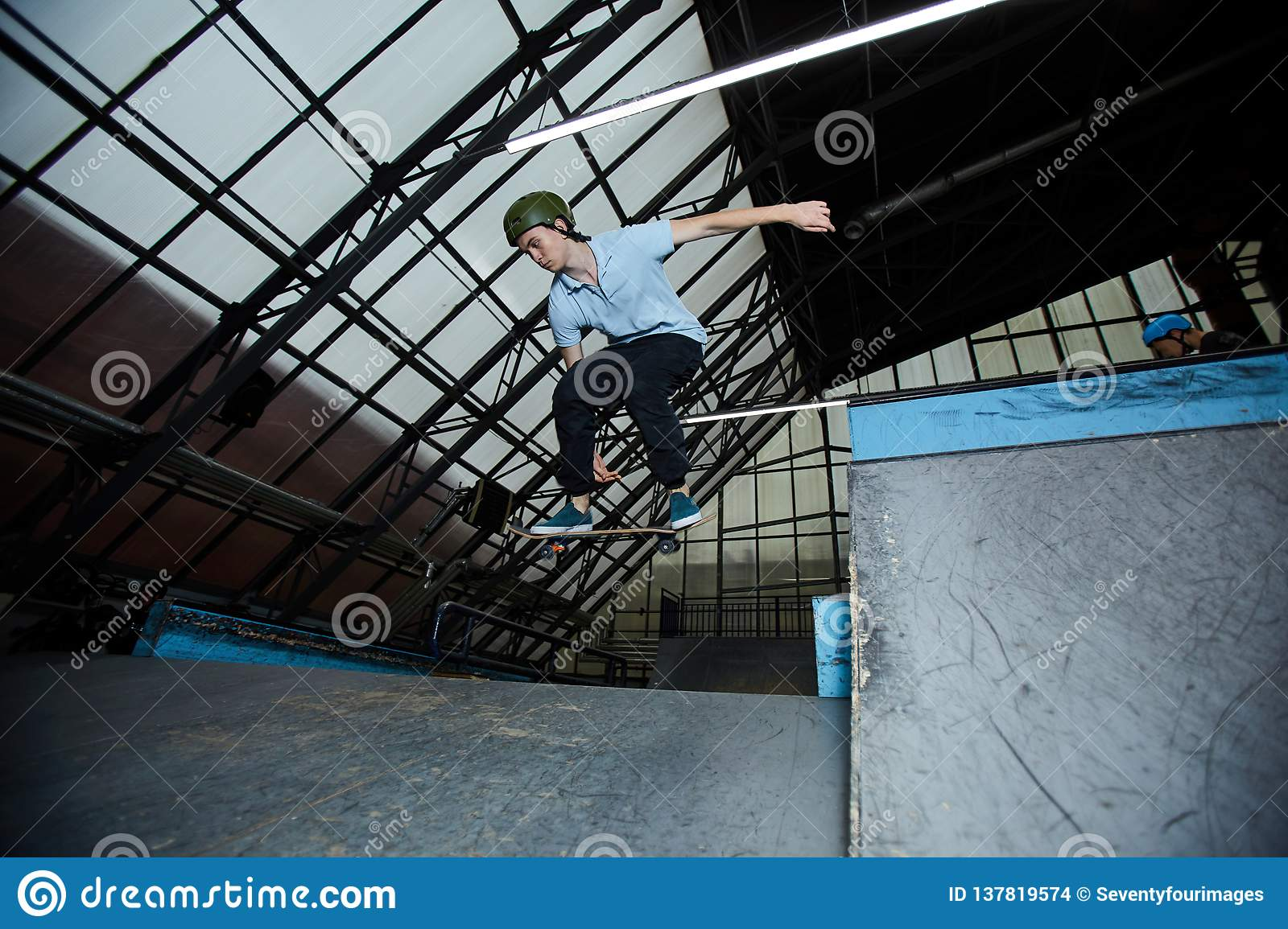 Skateboarding sullo stadio