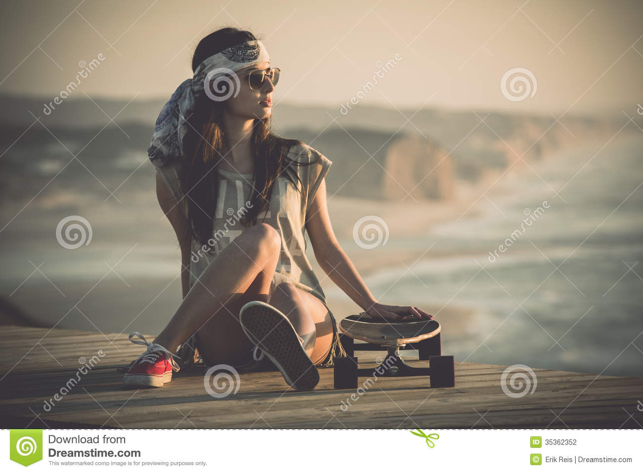 Skater Girl stock photo. Image of latin, funky, copyspace ...