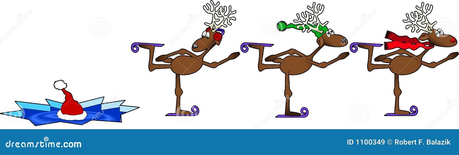 skating reindeer stock vector image of humor  santa ice skates clipart ice skate clip art pictures