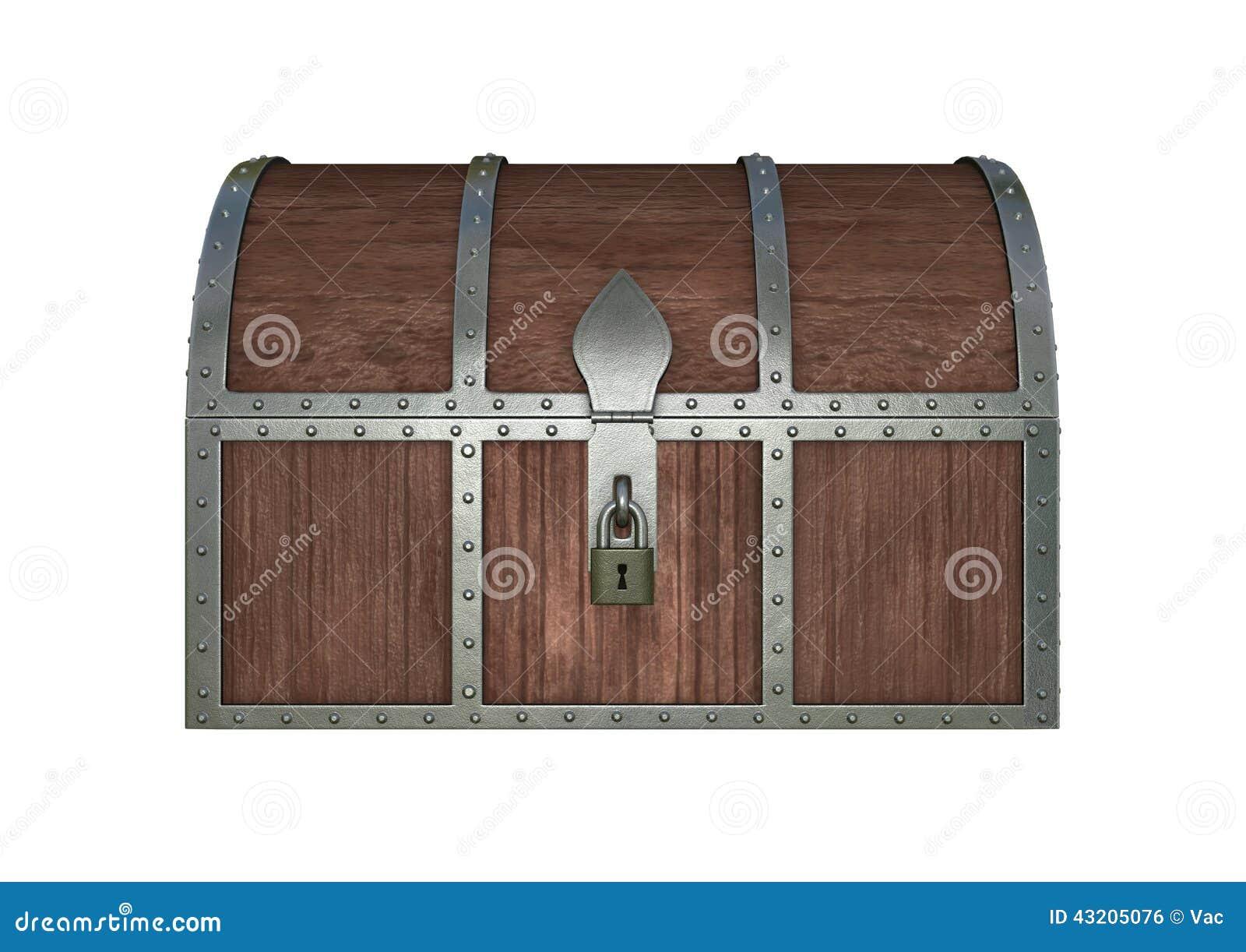 Download Skattbröstkorg stock illustrationer. Illustration av gammalt - 43205076