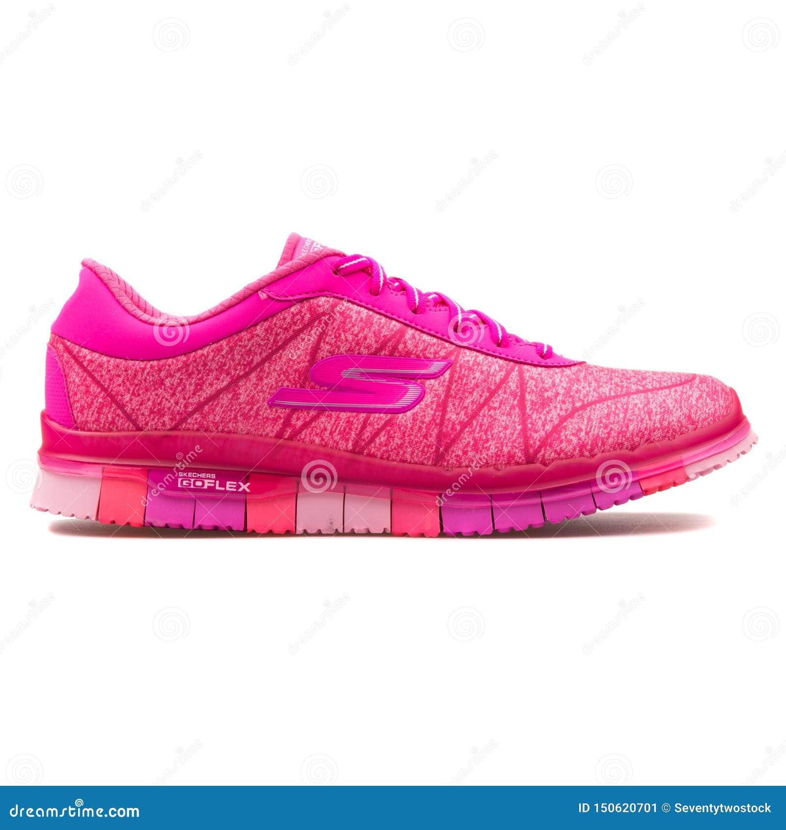 skechers flex pink