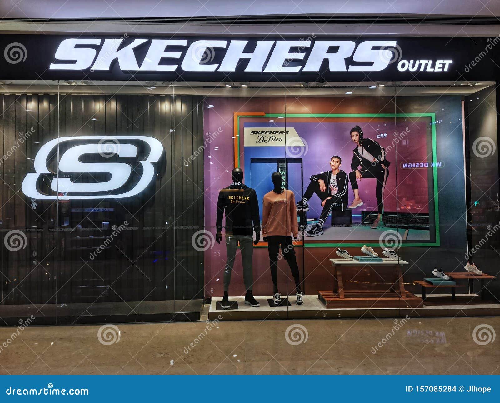 Skechers Shop Window In Wuhan City
